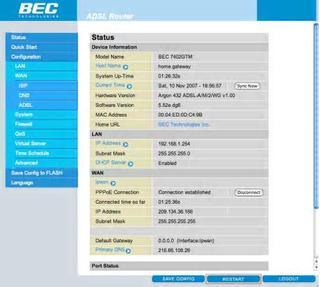 Enable Wireless on the BEC Modem - Step 10
