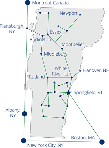 vtel fiber network map of vermont