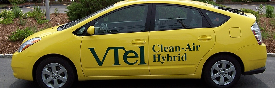 We drive hybrid cars to lessen our environmental impact
