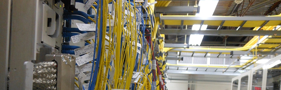 Fiber-optic wiring at our Grafton Central Office